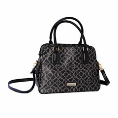 Waverly Lattice Large Satchel