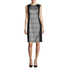 R & M Richards Sleeveless Sheath Dress