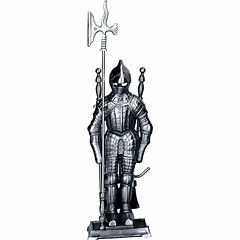 Blue Rhino Mini Pewter Soldier Fireplace Tool Set