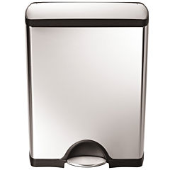 simplehuman® 50L Rectangular Step Trash Can in Brushed Stainless Steel