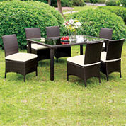 Wicker Patio Dining Table