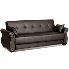 Serta Avanzo Leather Sleeper Sofa