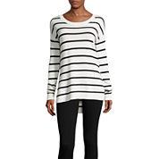 Arizona Long Sleeve Tunic Sweater-Juniors