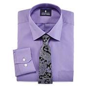 Stafford® Easy-Care Dress Shirt & Tie  Set