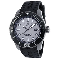 Invicta Mens Black Strap Watch-20520