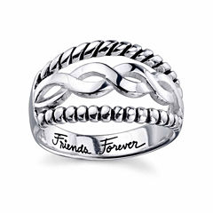 Footnotes Womens Sterling Silver