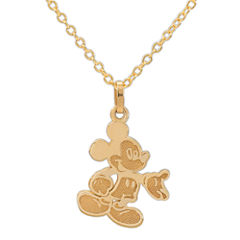 Disney® 14K Yellow Gold Mickey Mouse Pendant Necklace