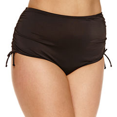 Trimshaper Solid Brief Swimsuit Bottom-Plus
