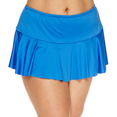 Liz Claiborne Solid Swim Skirt-Plus