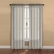 2-Pack Rod-Pocket Sheer Curtain Panel
