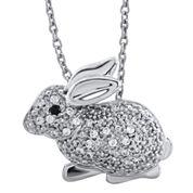 ASPCA® Tender Voices™ 1/8 CT. T.W. Diamond Bunny Pendant Necklace
