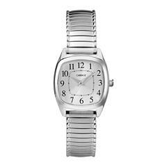 Carriage by Timex® Womens Square Stainless Steel Expansion Bracelet Watch CC3C751009J