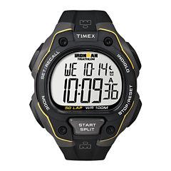 Timex® Mens Black Resin Strap 50-Lap Watch T5K4949J