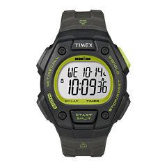 Timex® Ironman Mens Gray Resin Strap 30-Lap Watch T5K8249J