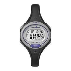 Timex® Ironman Womens Black Resin Strap 30-Lap Watch TW5K900009J