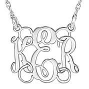 Personalized 15mm Script Monogram Necklace