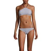 Arizona Mix & Match Stripe Halter High-Neck Swim Top or Hipster Swim Bottom - Juniors