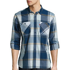 Levi'S Long Sleeve Chalk Woven Button-Front Shirt