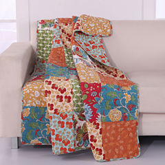 Greenland Home Fashions Terra Blossom Quilted Throw