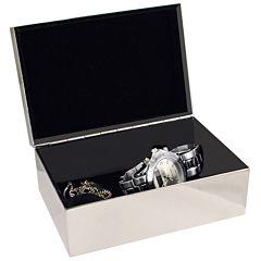 Natico Silver-Tone Jewelry Box