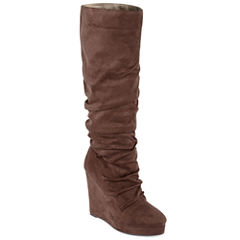 Michael Antonio Eastin Tall Womens Slouchy Wedge Boots