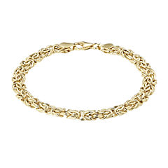Made in Italy 14K Yellow Gold 6.4mm Byzantine Bracelet