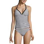 Arizona Mix & Match Summertime Stripe Push-Up Tankini Swim Top or Stripe Hipster Bottoms - Juniors