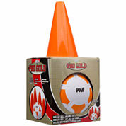 Poof Pro Gold Soccer Ball And Cone Set 5-pc. Combo Game Set