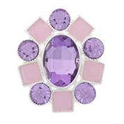 Monet Jewelry Womens Purple Stretch Ring