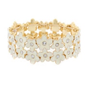 Liz Claiborne Womens White Stretch Bracelet