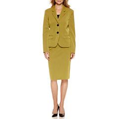 Le Suit® Long Sleeve 2-Button Skirt Suit