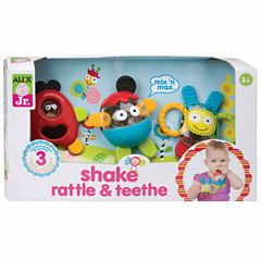 Alex Toys Alex Jr Shake Rattle And Teethe 3-pc. Interactive Toy
