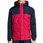 U.S. Polo Assn.® Colorblock Windbreaker Jacket with Hood