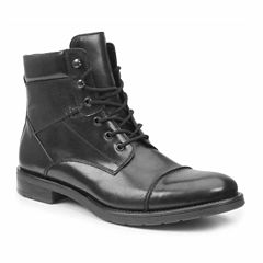 GBX Mens Leather Combat Boots