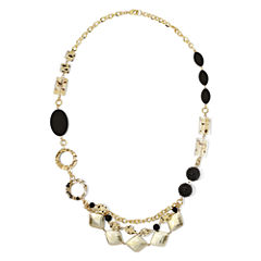 Aris by Treska Long Swag Front Necklace