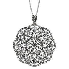Marcasite Open Starburst Pendant Necklace