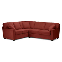 Fabric Possibilities Sharkfin-Arm 2-pc. Right-Arm Sleeper Sofa Sectional