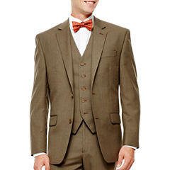 IZOD® Light Brown Sharkskin Suit Jacket - Classic Fit