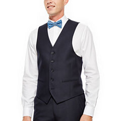 IZOD® Navy Plaid Vest - Classic Fit