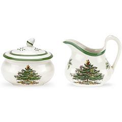 Spode® Christmas Tree Sugar Bowl and Creamer Set