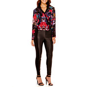 nicole by Nicole Miller® Printed Surplus Top or Faux-Leather Combo Leggings