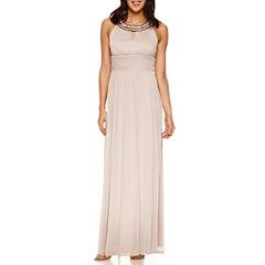 Melrose Sleeveless Embellished Evening Gown-Petites