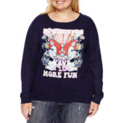 The Little Mermaid Brushed Fleece Sweatshirt- Juniors Plus