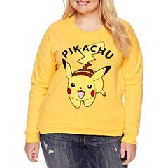 Long Sleeve Sweatshirt-Juniors Plus