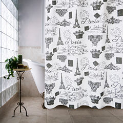Park B Smith Paris Travels Shower Curtain