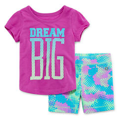 Xersion 2-pc. Short Set Baby Girls