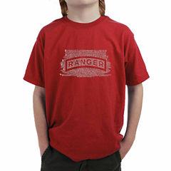 Los Angeles Pop Art The Ranger Creed Graphic T-Shirt-Big Kid Boys