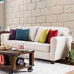 Seralda Fabric Track-Arm Sofa