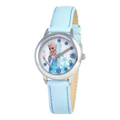 Disney Frozen Snow Queen Elsa Blue Strap Watch