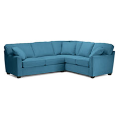 Fabric Possibilities Sharkfin-Arm 2-pc Left-Arm Sleeper Sofa Sectional